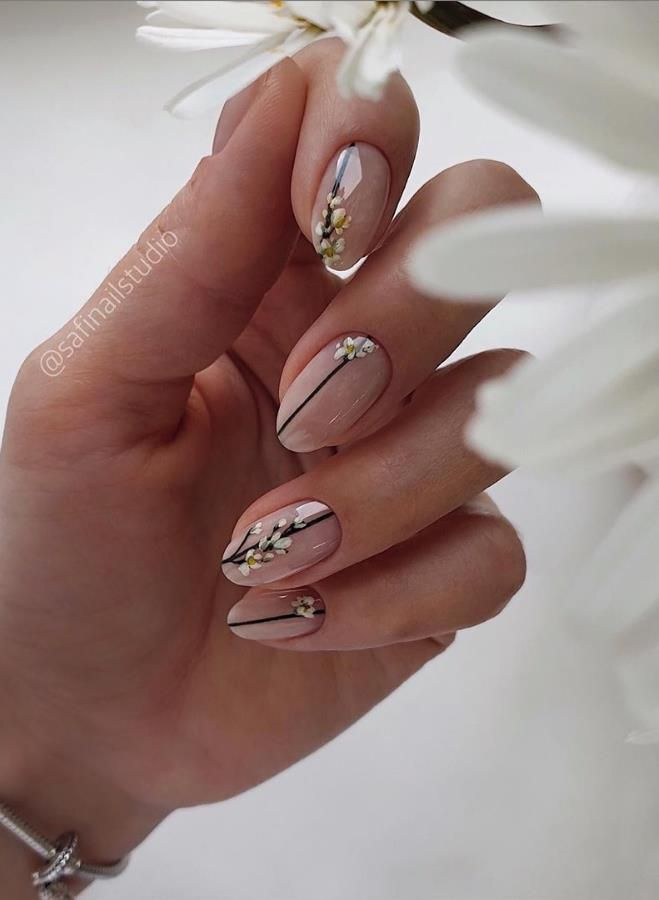 Beauty Acrylic Short Nails With Flowers Designs Ideas In Summer - Keep creating beauty and warm home, Find more happiness in daily life