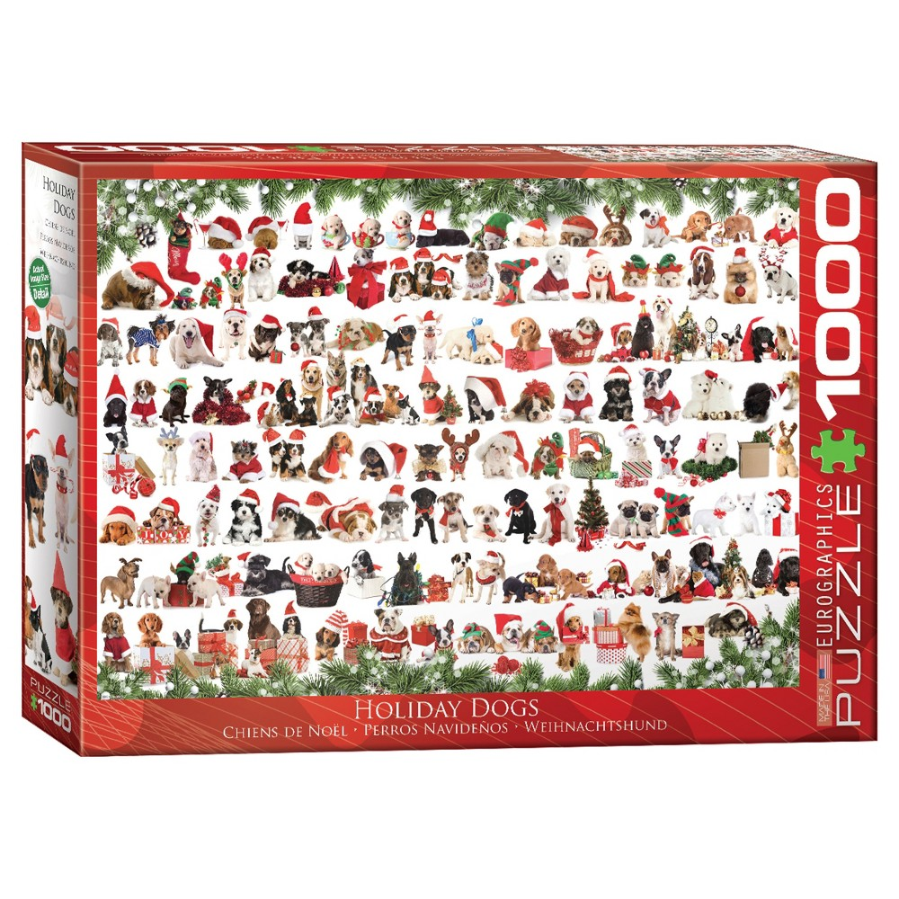 Christmas Puppies 1000 pc Puzzle