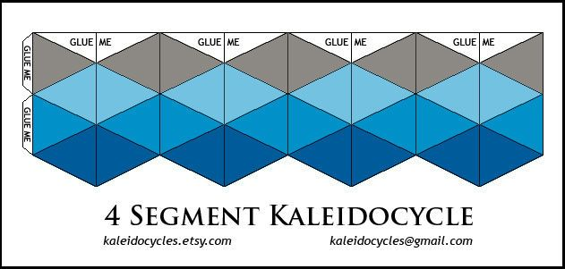 Segment D Flexagon Template Kaleidocycle Origami  Kagaz
