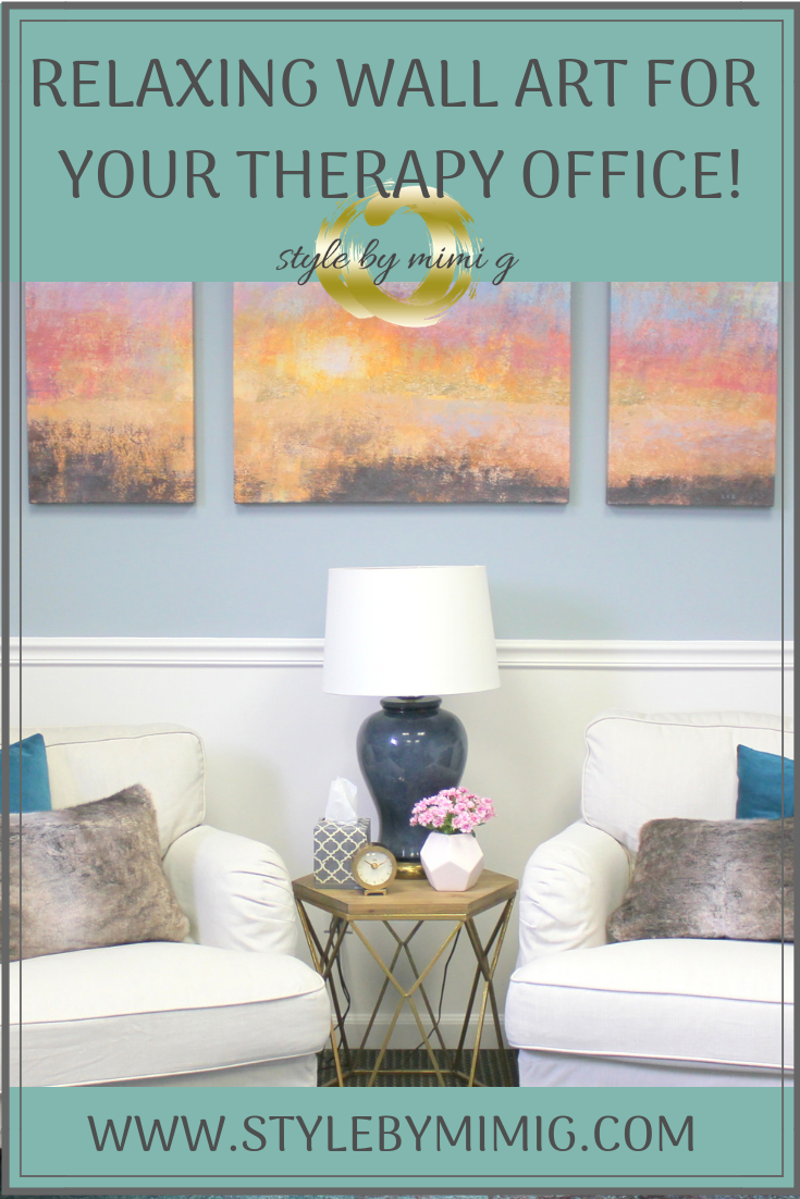 relaxing wall art for your therapy office therapy office on soothing colors for office id=33110