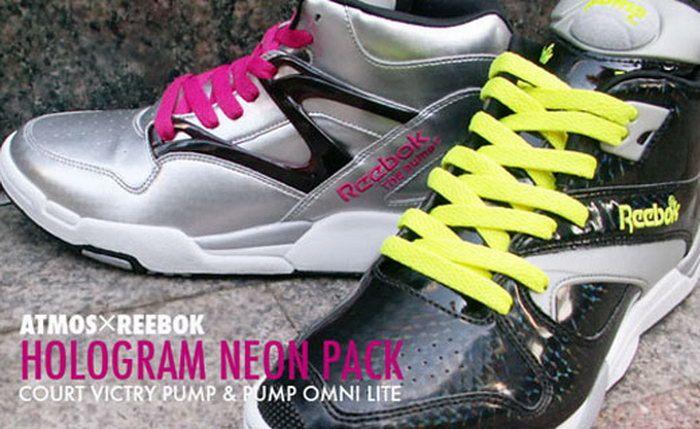 Reebok Pump Neon Hologram Pack x Atmos