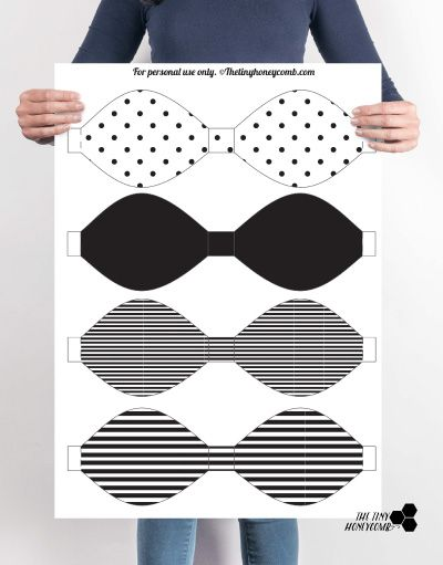 Diy printable paper bow with template pinterest paper bows diy printable paper bow with template the tiny honeycomb maxwellsz