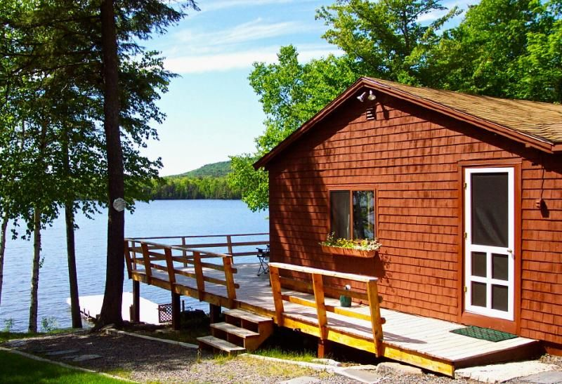 Image result for lakeside cabin   Places to visit   Maine