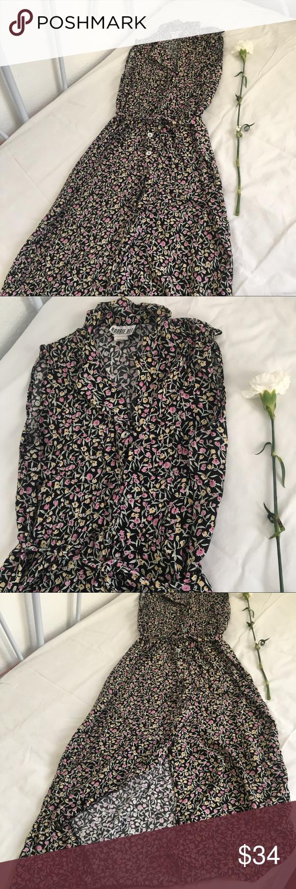 Robbie bee long floral pattern dress size beautiful long
