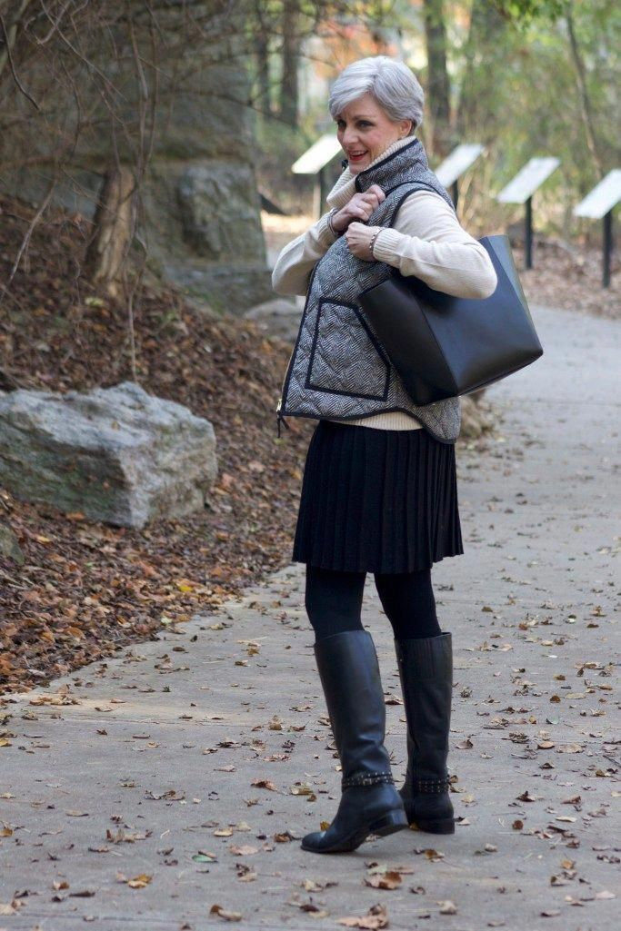 For the Preppy fashion wearers looking for fall fashion inspiration, this outfit is for you! This outfit is perfect for a quiet walk along a riverbank. Visit Style at a Certain Age for more fall fashion! #fallfashion #fashionblogger #fallfashionforwomenover50over50