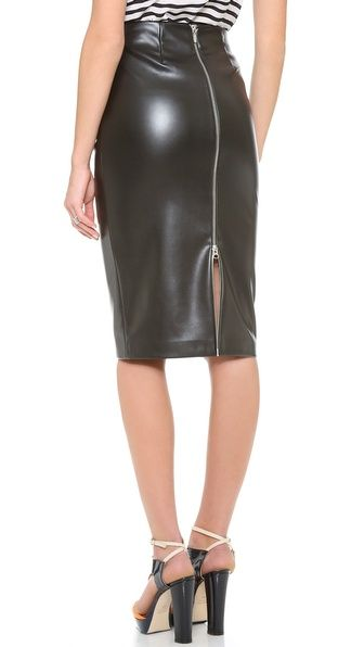 fe302cbf16 Pleather Pencil Skirt | if I were a rich girl... | Skirts, Leather ...