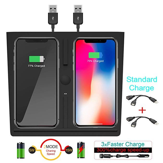 Uniwood Wireless Charger for Tesla Model 3, Dual QI ...