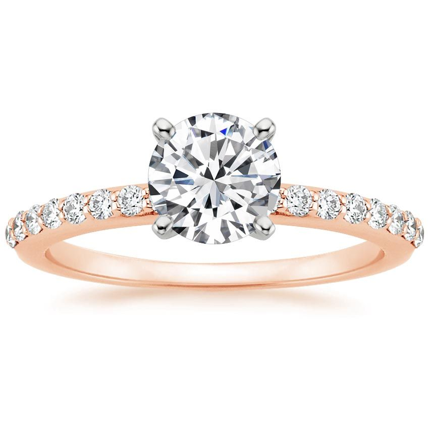 14K Rose Gold Petite Shared Prong Diamond Ring (1/4 ct. tw.) from Brilliant Earth