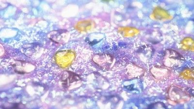 Glass hearts wallpaper Purple Blue Hi Res