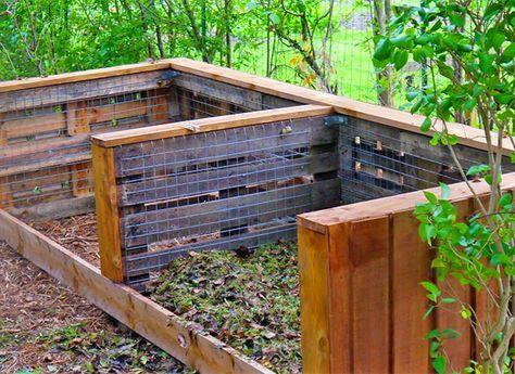 Construire un composteur avec des palettes Composting, Gardens and - Construire Sa Maison En Palette