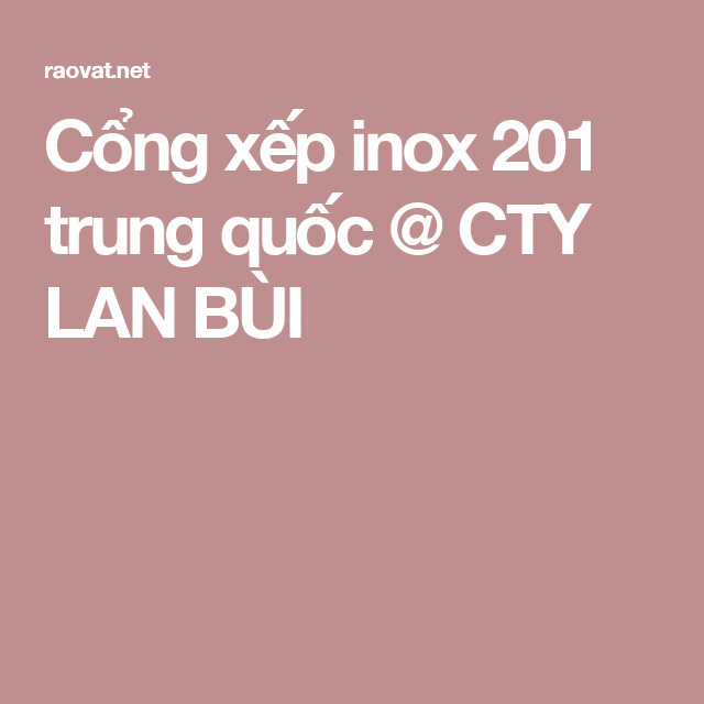 Cổng xếp inox 201 trung quốc @ CTY LAN BÙI