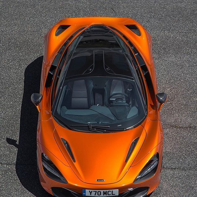 The Mclaren 720s In Azores Orange Especially Beautiful From Above
