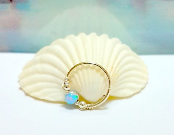 Helix Earring Fire Opal Cartilage Earring by HelenCollectionJewel