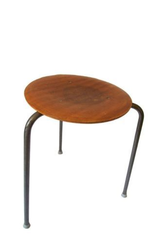 Fritz Hansen Arne Jacobsen Dot Stacking Stool Chair Danish