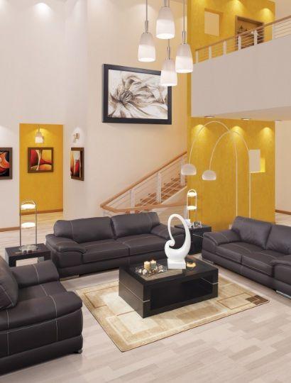 El Amarillo Puede Ser Una Opcion Para Contrastar Colores Oscuros En Tu Sala O Comedor Decoracion De Interiores Colores De Interiores Interiores De Casa