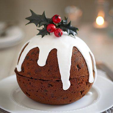 Christmas cake chocolate