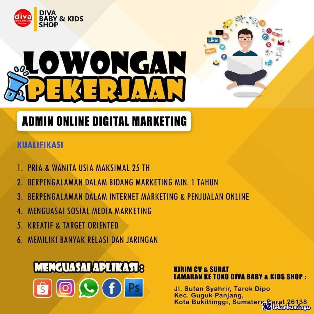 Lowongan Kerja Diva Baby N Kids Shop Sumatera Barat Di 2021 Diva Marketing Pembaptisan