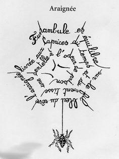 Guillaume Apollinaire calligramme - Recherche Google Las palabras construyen la imagen, ésta alude a aspectos relevantes, por lo que la imagen es de corte expositivo.