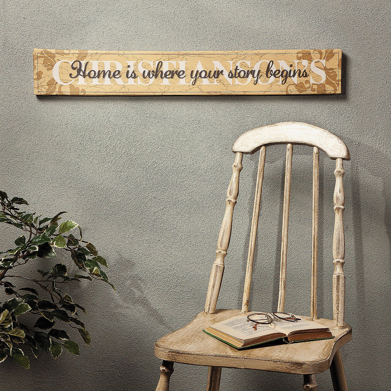 "Wall Decor Signs For Home Mesmerizing Home Is Where Your Story Begins"" Sign  Orientaltrading  Sign Design Ideas"