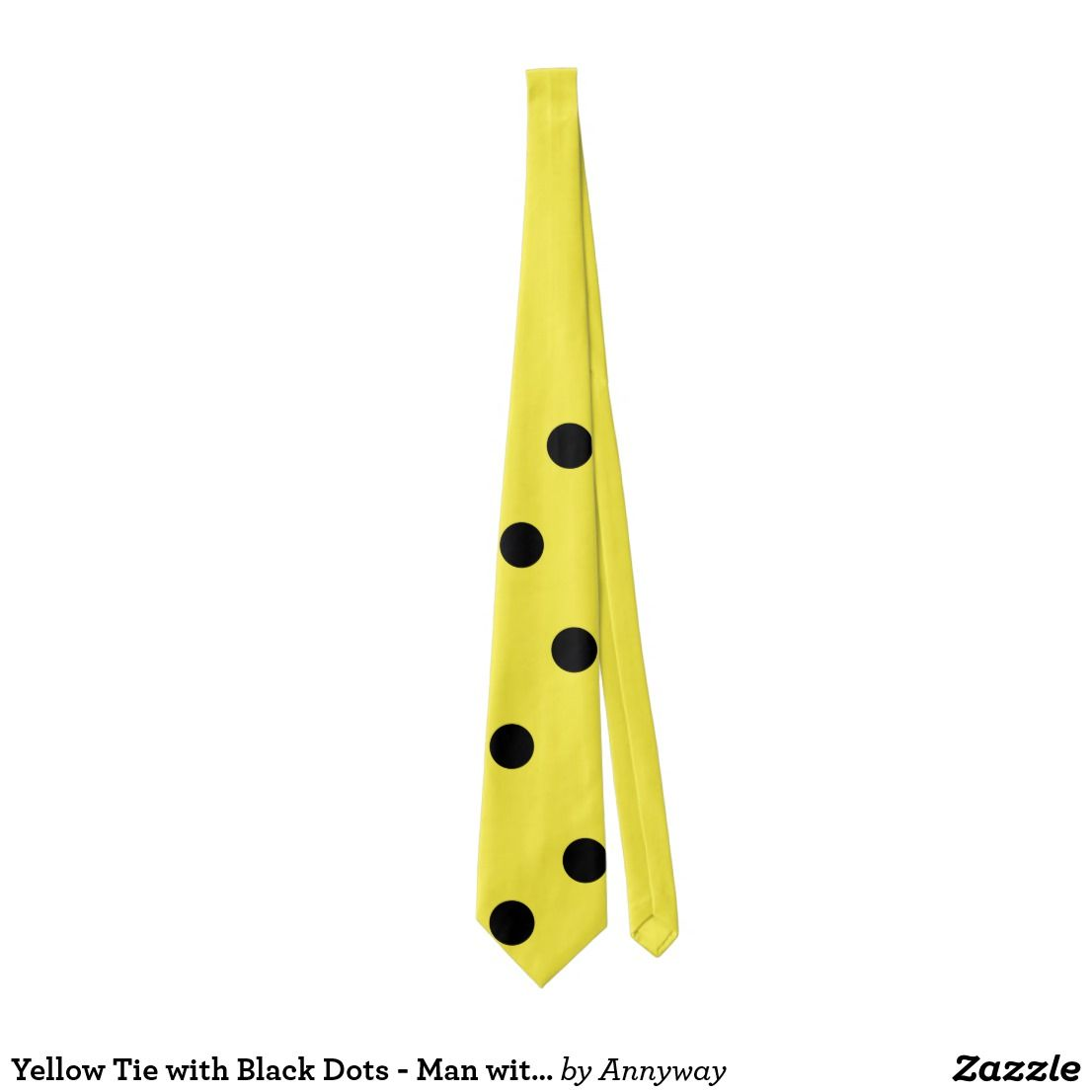 Yellow Tie With Black Dots Man With Hat Costume Zazzle Com Yellow Ties Hats For Men Black Dots