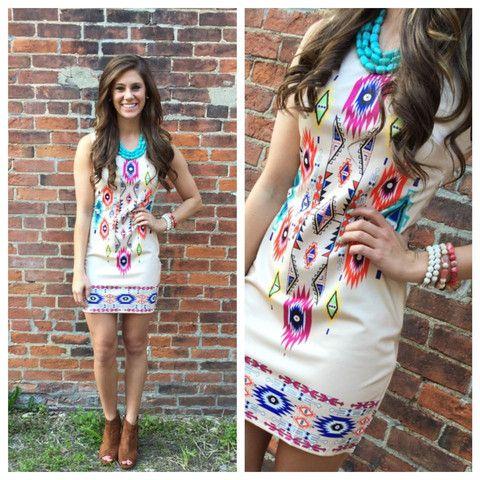 The Chenoa Aztec Dress