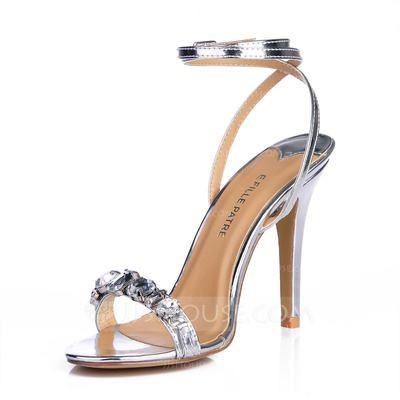 Sandals - $58.99 - Leatherette Stiletto Heel Sandals Slingbacks With ...