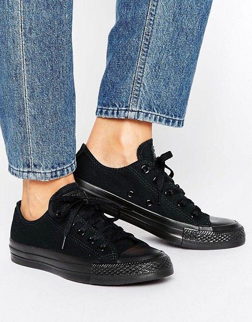 8022b3bf7d8d Converse Chuck Taylor All Star core black mono sneakers