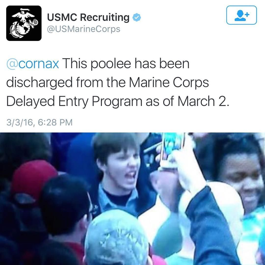 The Marine Corps Has Confirmed That It Discharged A Member Of Its Delayed Entry Program After The Poolee Was S In 2020 Military Motivation Usmc Recruiting Marine Corps