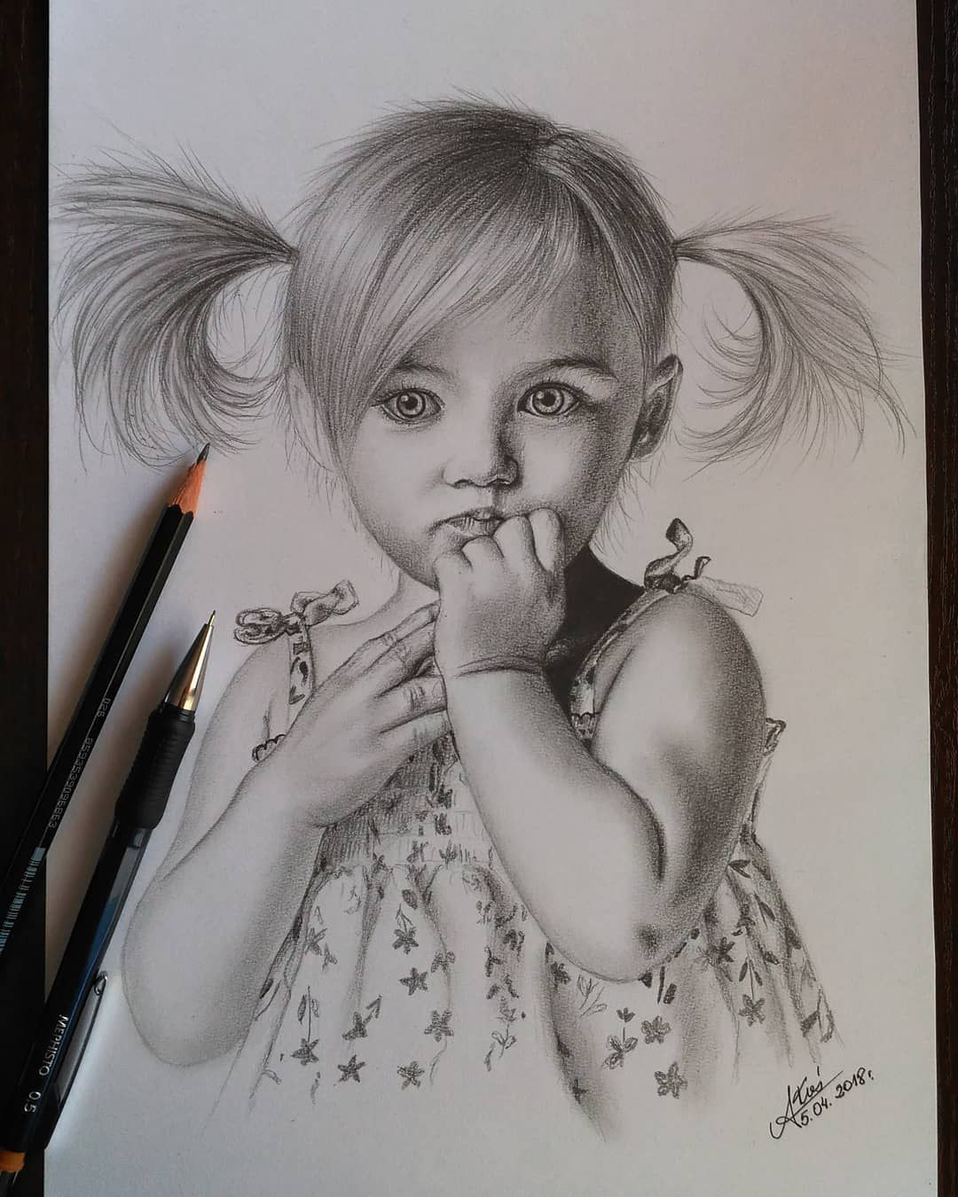 Sketch Baby Girl Pic