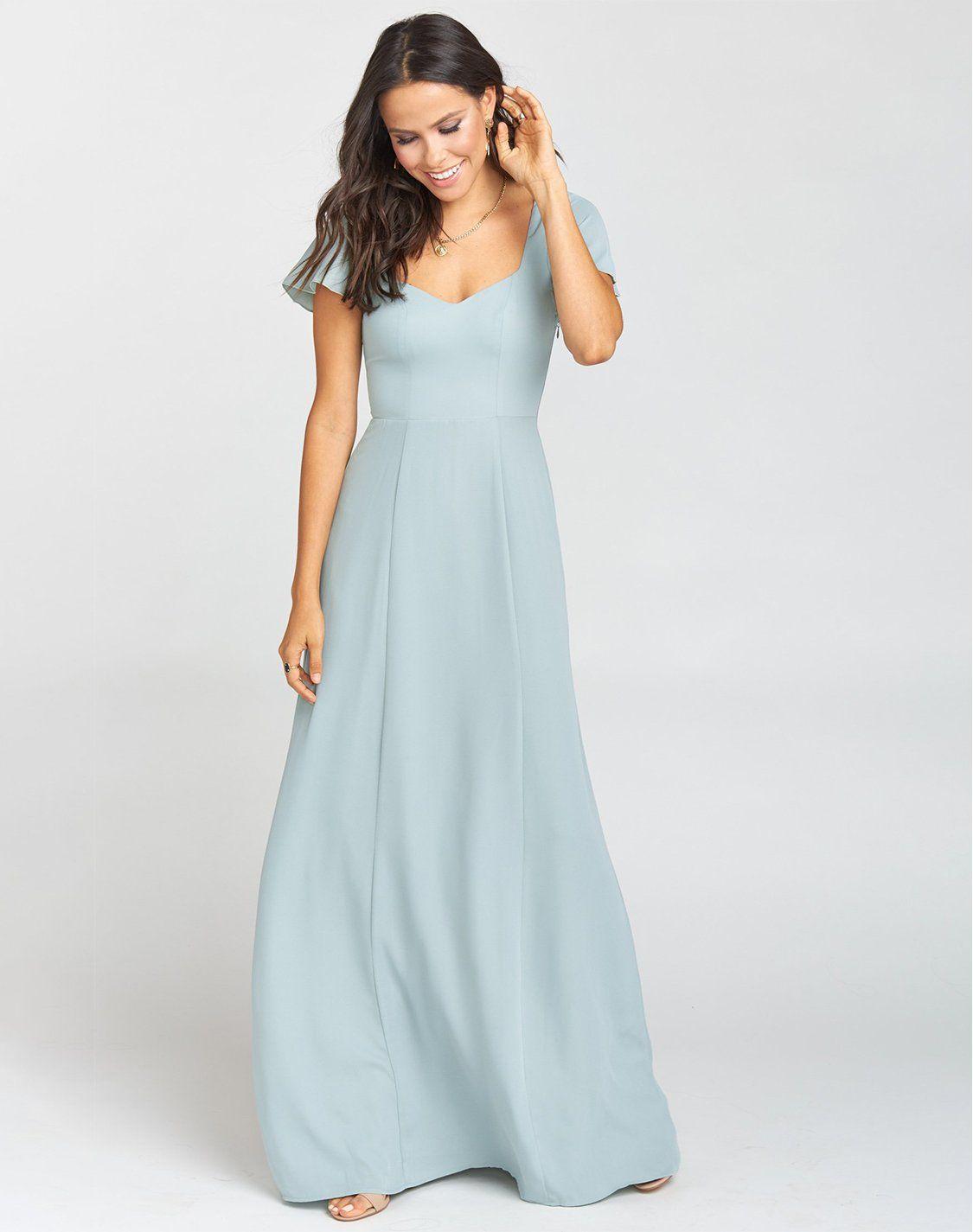 Marie Sweetheart Maxi Dress Silver Sage Crisp In 2021 Bridesmaid Dress Styles Maxi Dress Modest Bridesmaid Dresses [ 1425 x 1125 Pixel ]