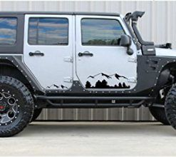 Black Mountains Jeep Wrangler Decal Sticker Jeep Decals Jeep