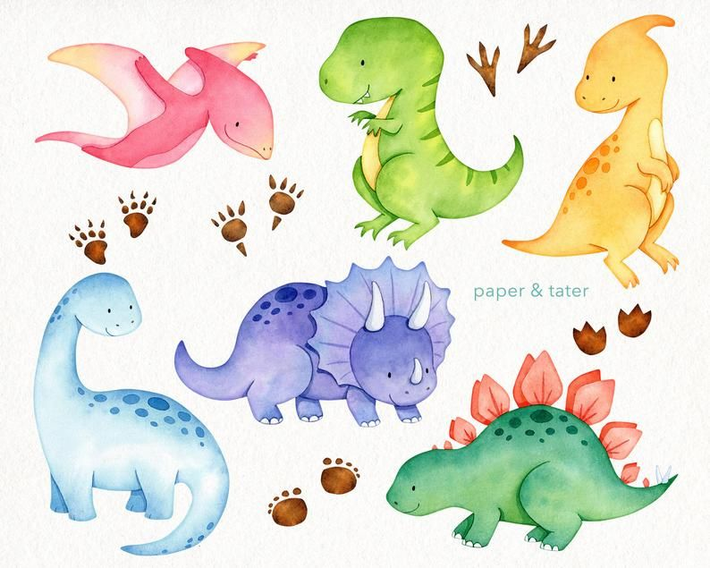 Aquarelle Baby Dinosaur Clipart Graphics Dino Clip Art T Etsy In 2021 Dinosaur Dinosaur Drawing Dinosaur Clip Art