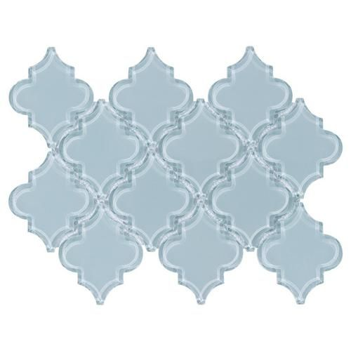 Floor And Decor Arabesque Tile Fleur Spa Arabesque Water Jet Cut Glass Mosaic  Spa Water Master
