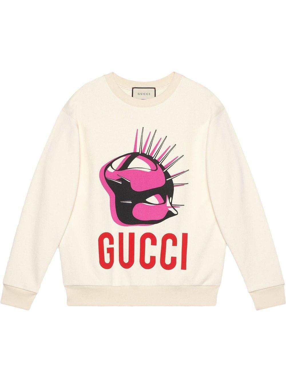 Gucci Manifesto Oversized Sweatshirt Farfetch Sweatshirts Oversized Sweatshirt Sweatshirt Fashion [ 1334 x 1000 Pixel ]