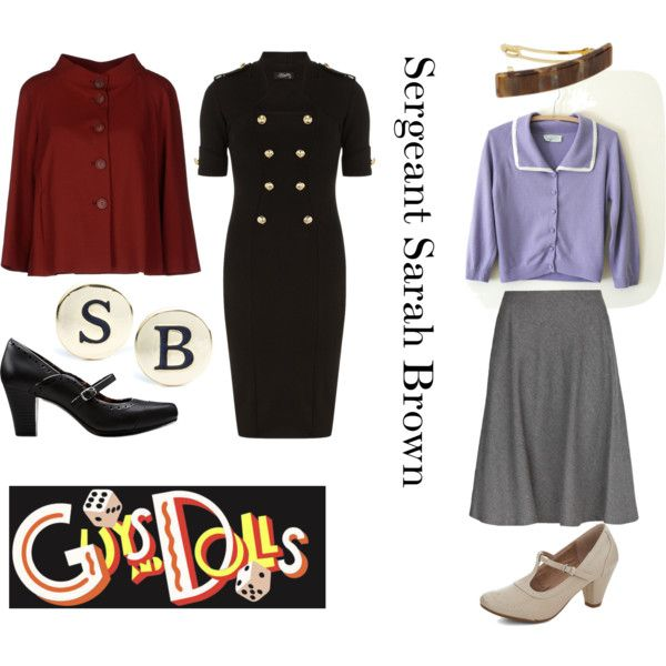 """""""Guys and Dolls - Sarah Brown"""" by beetlescarab on Polyvore"""