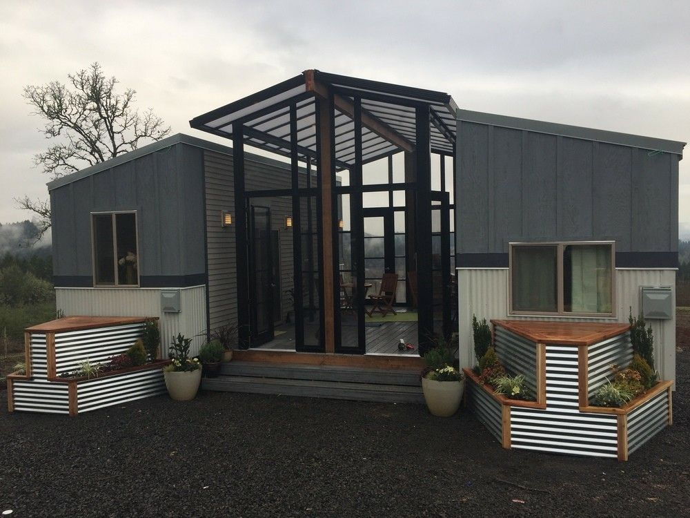 2 Full Feature Tiny Homes Connected By A Sunroof. Both Hones Have Main  Floor Bedroom
