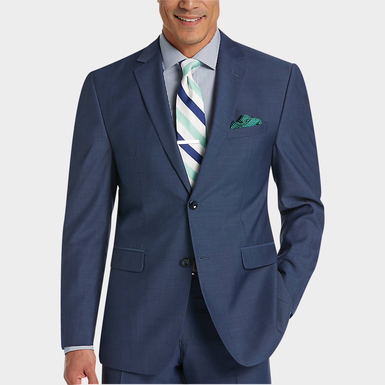 Buy a Perry Ellis Portfolio Blue Slim Fit Suit and other Slim Fit ...