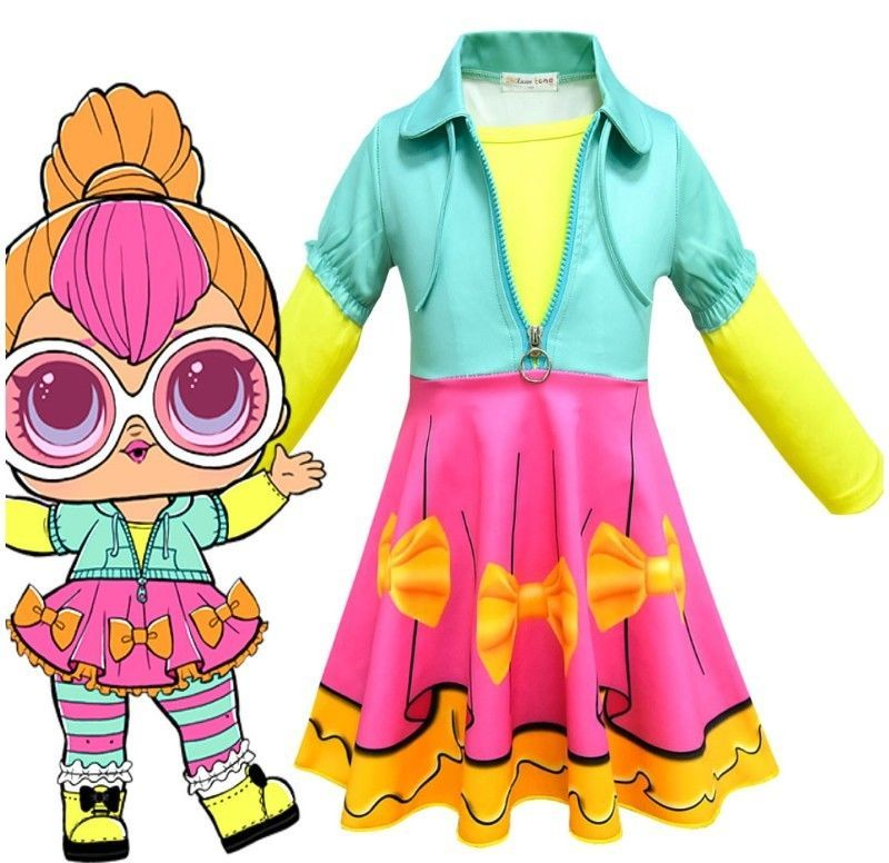 New L.O.L Doll Surprise Costume Kids Girls Dress Party Fancy Cosplay Dress   8717  fashion  clothing  shoes  accessories  kidsclothingshoesaccs ... 125f2ef71ef2