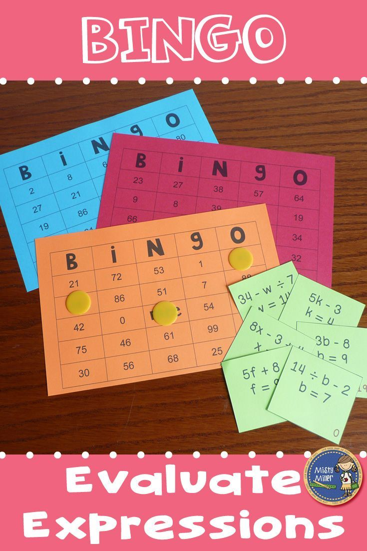 Evaluate Expressions BINGO - Provide your students with some engaging  practice with evaluating math expressi…   Evaluating expressions [ 1102 x 735 Pixel ]