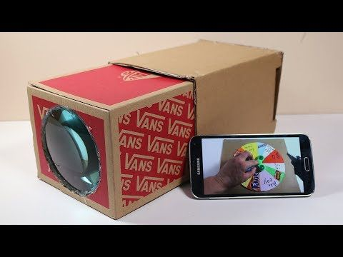 How To Make A Hd Projector At Home In 5 Minute Digital Projector Tech Toyz Videos Youtube Smartphone Projector Diy Diy Projector For Iphone Diy Projector