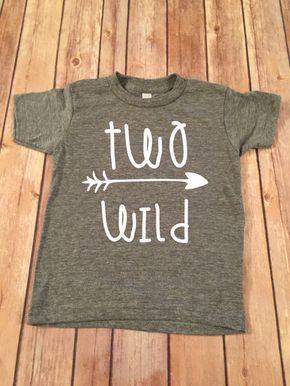 Zwei Wilde Geburtstag Shirt 2 Von OliverOliviaApparel 1st Birthday Boy Third