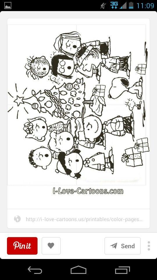 Gang singing carols around the tree   snoopy   Pinterest   Navidad y ...