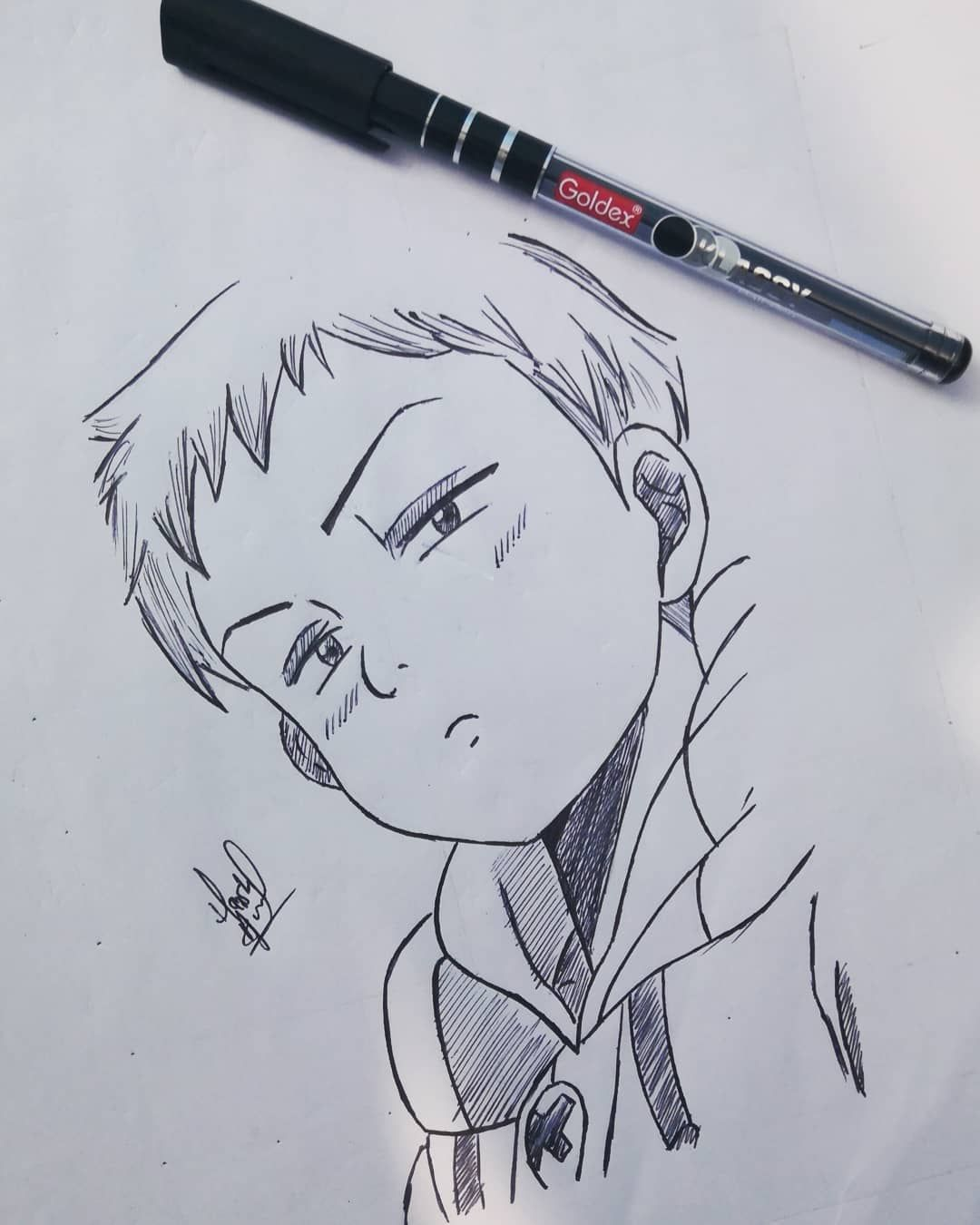 Ball Pen Sketch Of King Done I Guess Ball Pen Is The Best Tool Hope U All Like It And Keep Drawing Tutorial Anime Drawing Styles Anime Drawings Tutorials