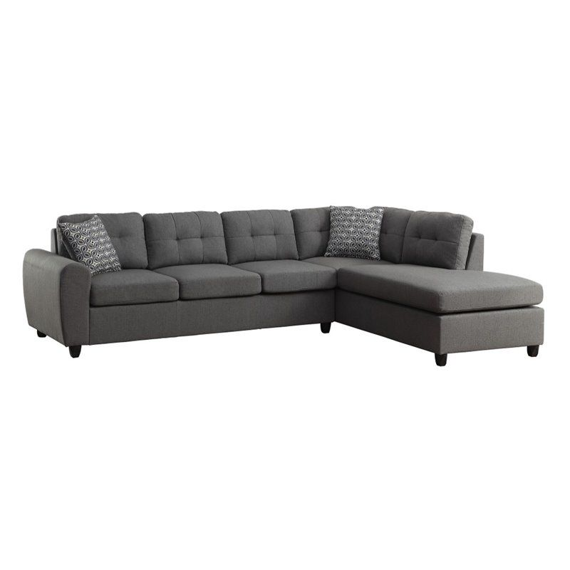 Coaster Stonenesse Contemporary Linen Right Facing Sectional In