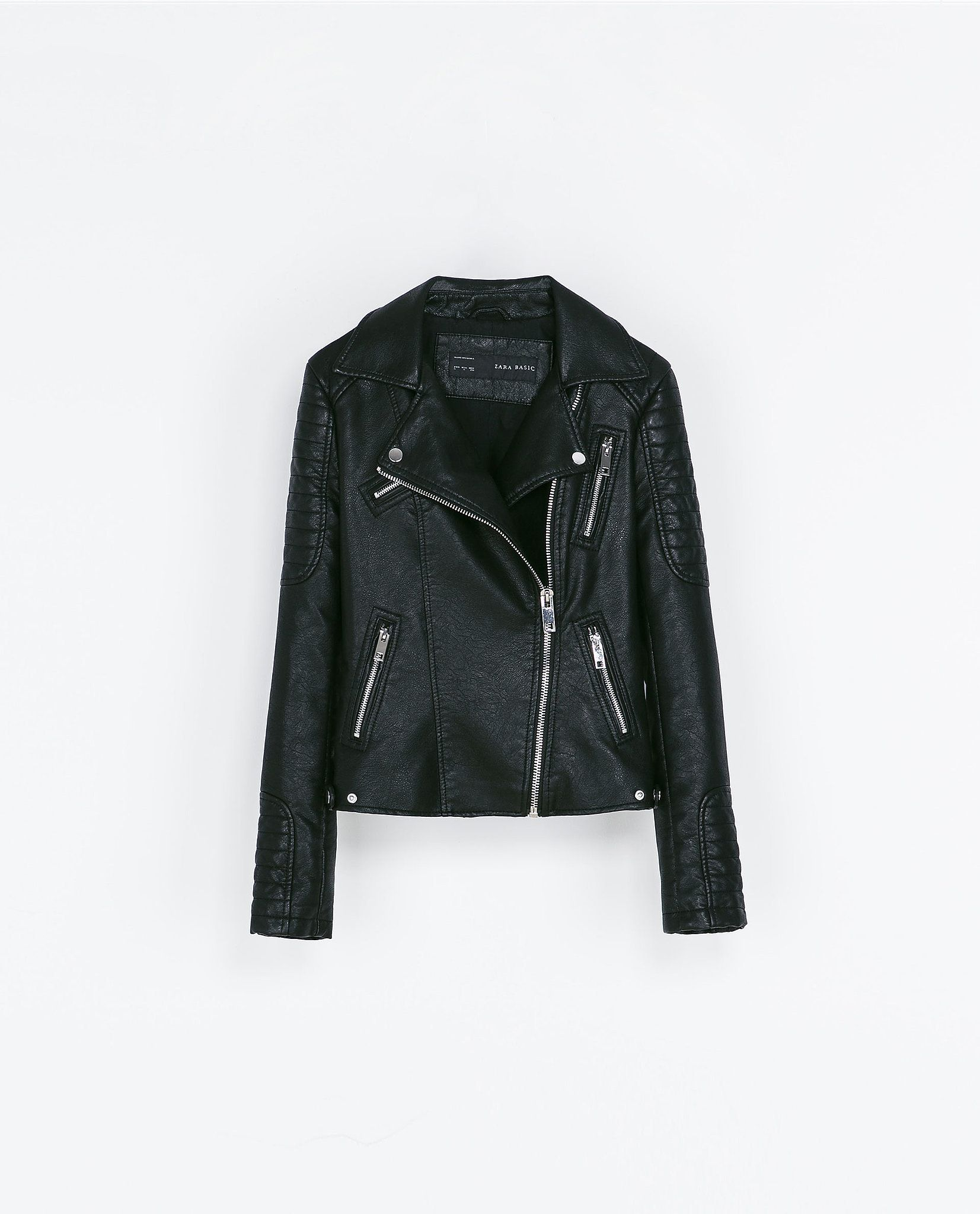 Veste Motard En Cuir Zara Boutique Australie