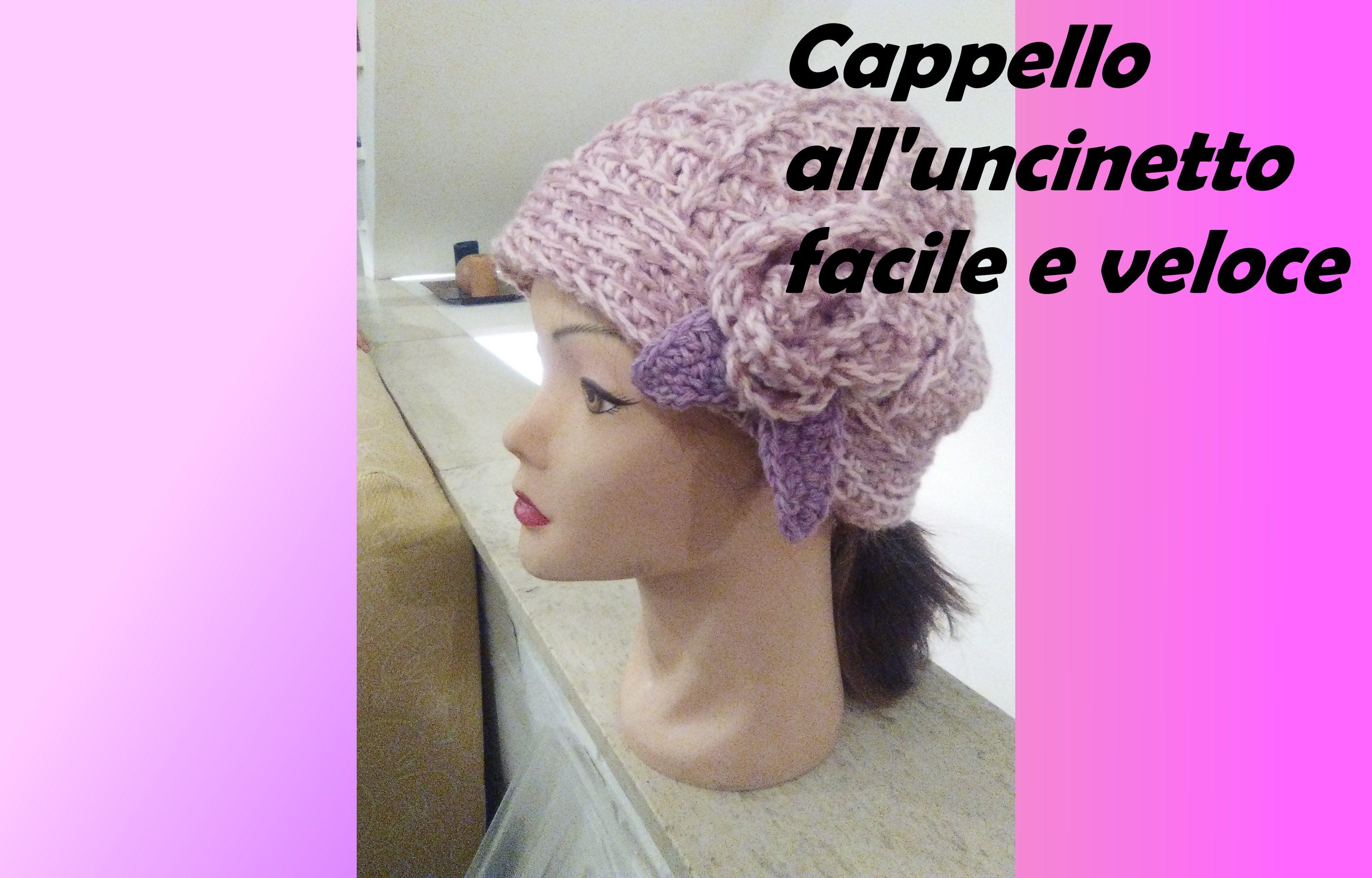 Cappello Alluncinetto Facile E Veloce Crochet Hat Very Easy And