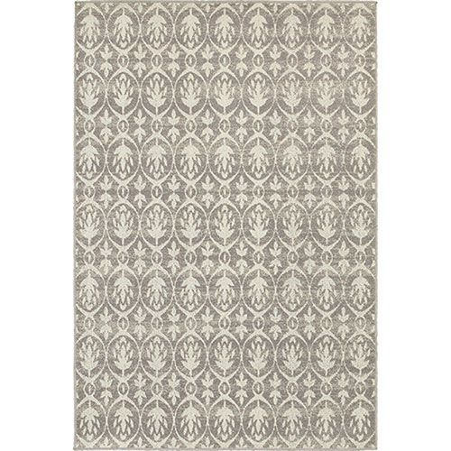 Hampton Gray and Ivory Rectangular: 8 Ft. x 11 Ft. Rug - (In No Image Available)