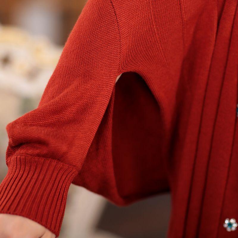 Aliexpress.com: Comprar Otoño de la rebeca ropa de la madre camisa del batwing prendas de vestir exteriores grande suéter capa m5029 de traje suéter confiables proveedores de Daily Necessity Online Store.