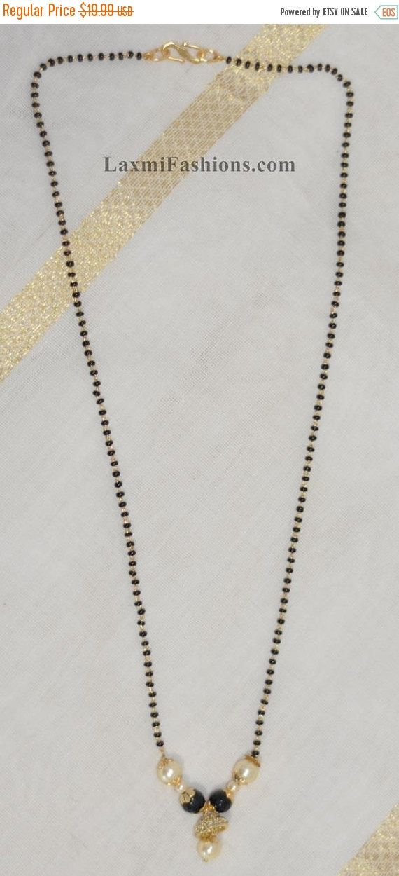 Discount Black Beads Mangalsutra One Gram Gold Necklace Chain Set ...