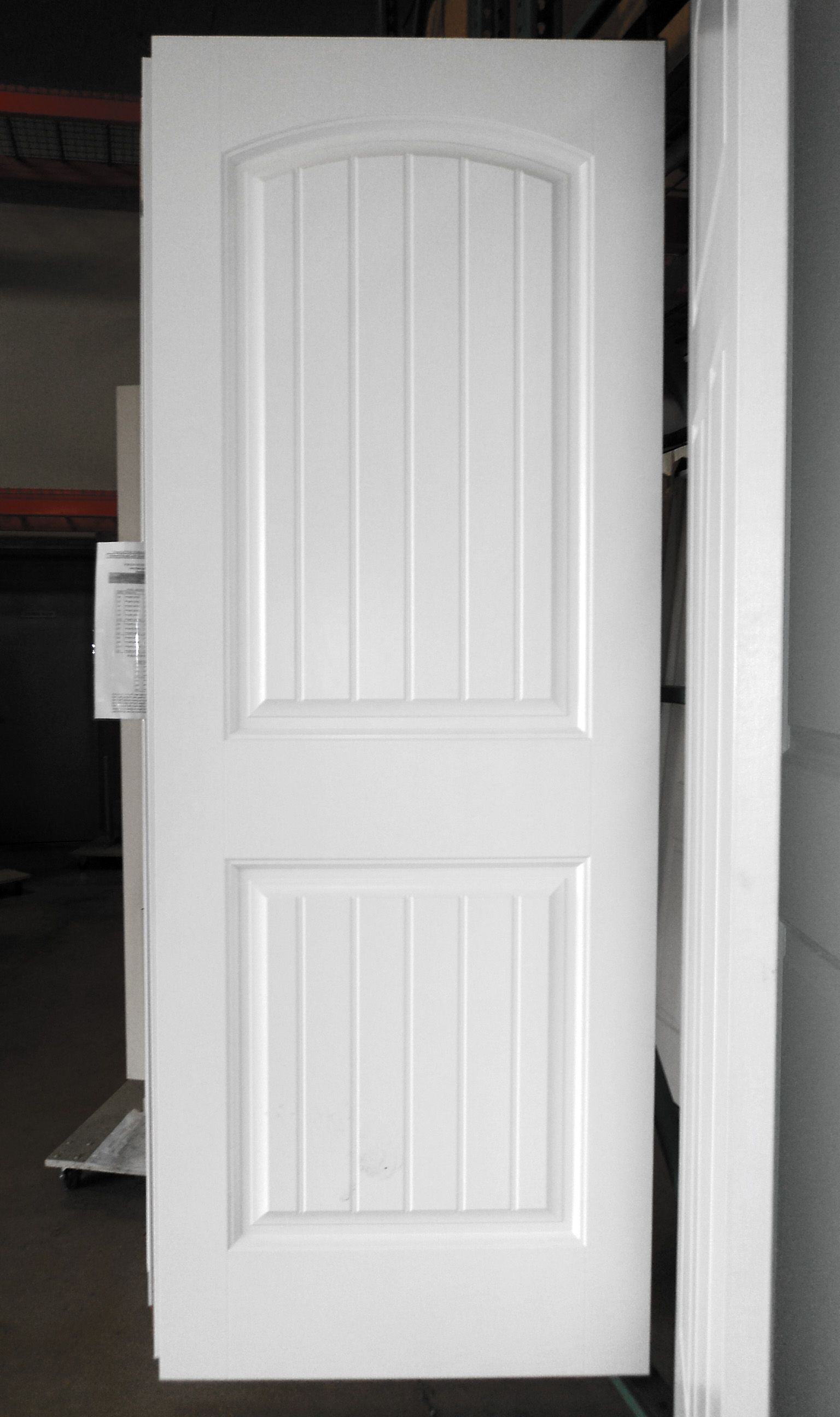 2 panel painted white cheyenne smooth masonite hollow core interior door interior doors - Sophisticated black interior doors ...